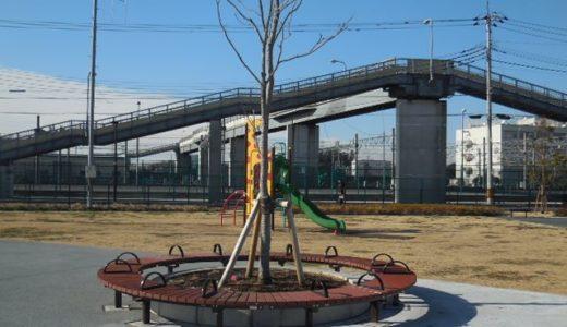 美園三丁目第2公園|歩行者専用道路から見える公園 実はUR事務所跡地