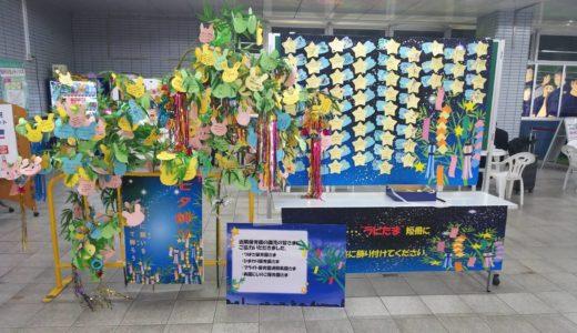 浦和美園駅 夏イベント「七夕飾り」ラビたま短冊に願いを 2019年