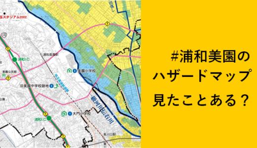 浦和美園のハザードマップって見たことある??