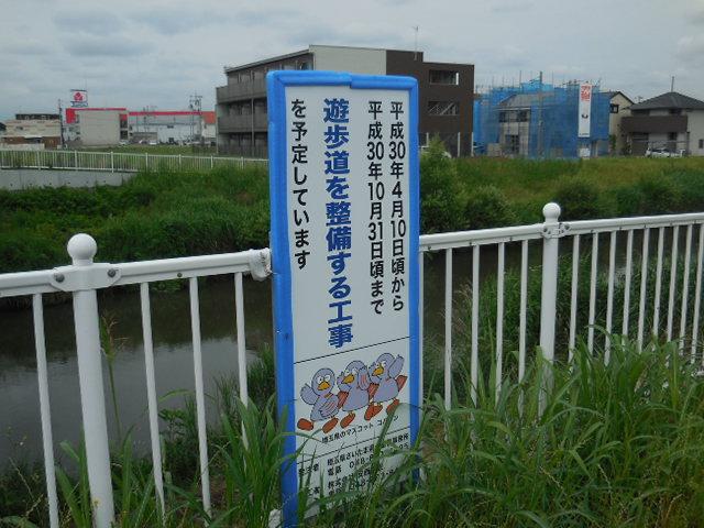 綾瀬川遊歩道 浦和美園