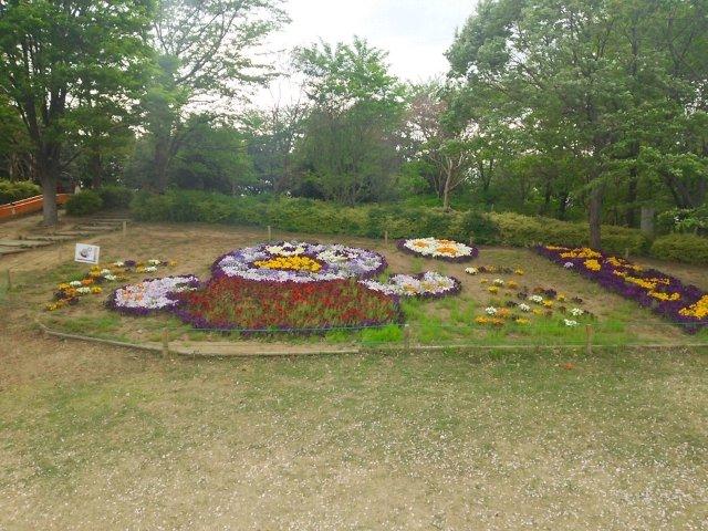 埼玉スタジアム2002公園 コバトン 花壇
