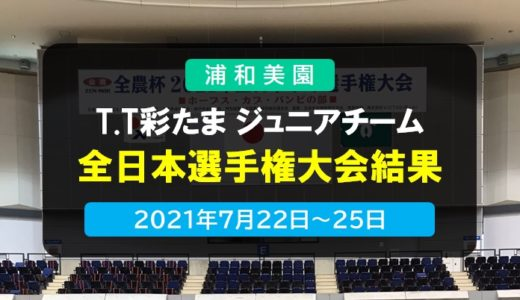 T.T彩たま|T.T彩たま ジュニアチーム・全農杯2021年全日本選手権大会(ホープス・カブ・バンビの部) 大会結果 2021年7月22日~25日開催