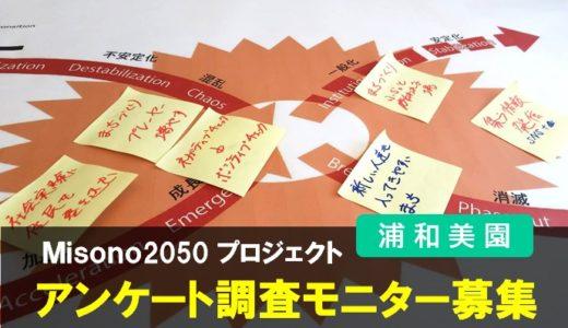 Misono2050|アンケート調査モニターを募集します・美園地区の持続可能な2050年プロジェクト・浦和美園